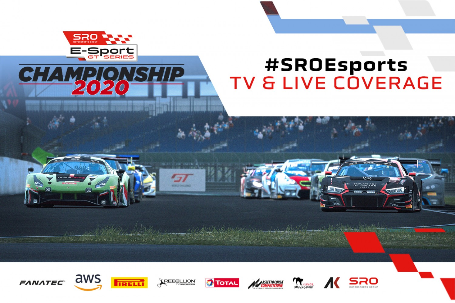 SRO E-Sport GT Series confirms extensive television and online coverage for 2020 championship
