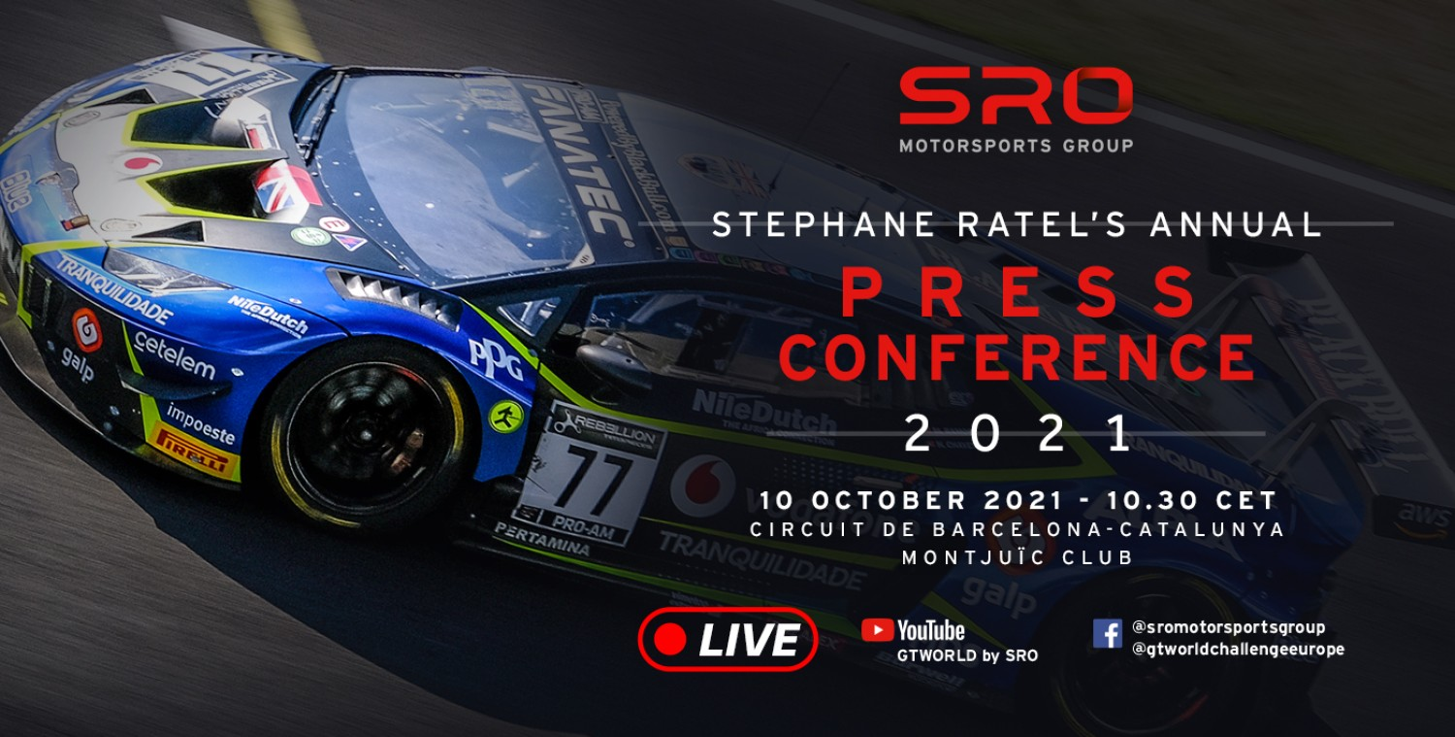 SRO Motorsports Group 2022 Press Conference - LIVE